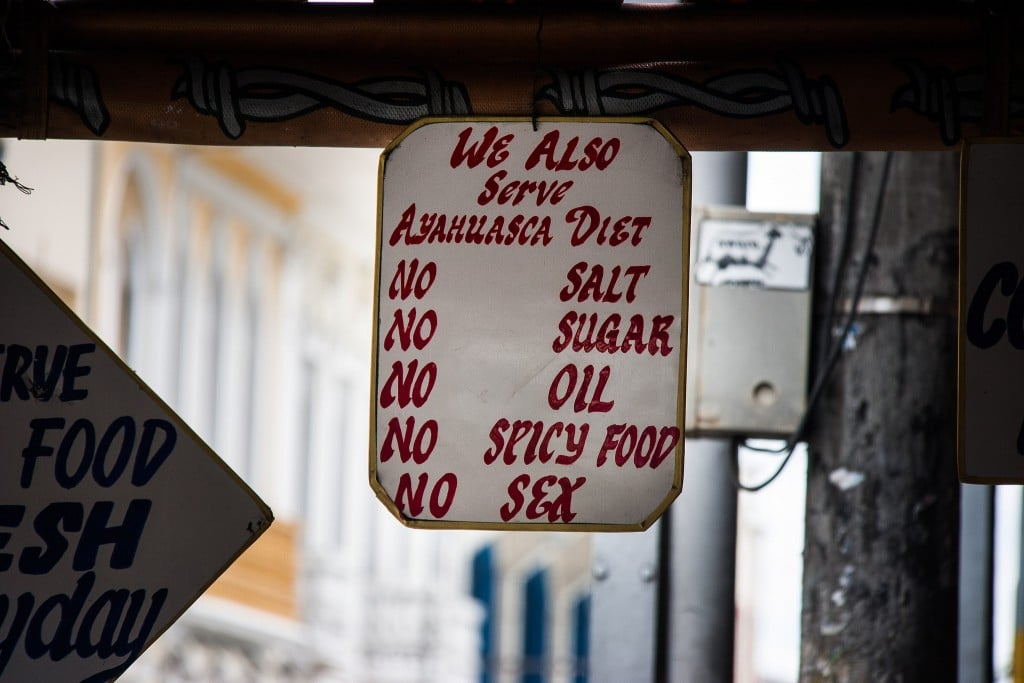 pre ayahuasca diet